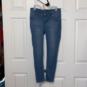Fashion Nova Bubble Butt Blue Jeans